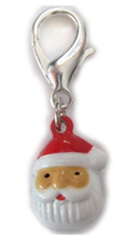 Santa Jingle Bell  Dog Collar Charm