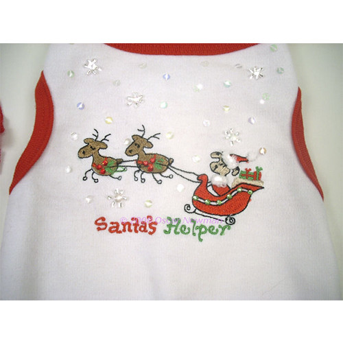 Santas Helper Dog Dress or Tee - on-santa