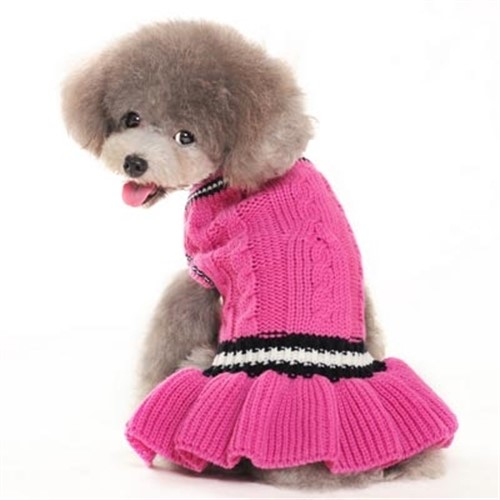School Girl Dog Sweater Dress - dgo-schoolgirl