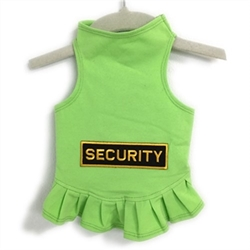 Security Dog Dress or Tank in Many Colors   wooflink, susan lanci, dog clothes, small dog clothes, urban pup, pooch outfitters, dogo, hip doggie, doggie design, small dog dress, pet clotes, dog boutique. pet boutique, bloomingtails dog boutique, dog raincoat, dog rain coat, pet raincoat, dog shampoo, pet shampoo, dog bathrobe, pet bathrobe, dog carrier, small dog carrier, doggie couture, pet couture, dog football, dog toys, pet toys, dog clothes sale, pet clothes sale, shop local, pet store, dog store, dog chews, pet chews, worthy dog, dog bandana, pet bandana, dog halloween, pet halloween, dog holiday, pet holiday, dog teepee, custom dog clothes, pet pjs, dog pjs, pet pajamas, dog pajamas,dog sweater, pet sweater, dog hat, fabdog, fab dog, dog puffer coat, dog winter jacket, dog col