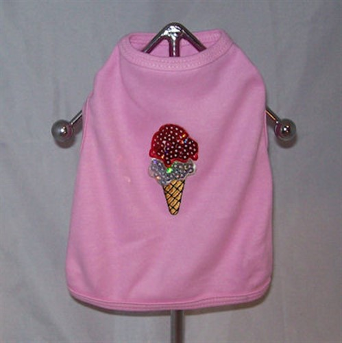 Sequined Ice Cream Cone Shirt with Sleeves