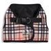 Sidekick Printed Tan Plaid Dog Harness  - wd-tanplaid-harness