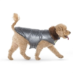 Silver Aspen Puffer Coat   Roxy & Lulu, wooflink, susan lanci, dog clothes, small dog clothes, urban pup, pooch outfitters, dogo, hip doggie, doggie design, small dog dress, pet clotes, dog boutique. pet boutique, bloomingtails dog boutique, dog raincoat, dog rain coat, pet raincoat, dog shampoo, pet shampoo, dog bathrobe, pet bathrobe, dog carrier, small dog carrier, doggie couture, pet couture, dog football, dog toys, pet toys, dog clothes sale, pet clothes sale, shop local, pet store, dog store, dog chews, pet chews, worthy dog, dog bandana, pet bandana, dog halloween, pet halloween, dog holiday, pet holiday, dog teepee, custom dog clothes, pet pjs, dog pjs, pet pajamas, dog pajamas,dog sweater, pet sweater, dog hat, fabdog, fab dog, dog puffer coat, dog winter ja