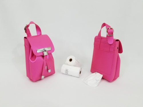 Silver Collection-fuchsia Pink-Ultimate Poop Bag Dispenser  susan lanci, puppia,wooflink, luxury dog boutique,tonimari,pet clothes, dog clothes, puppy clothes, pet store, dog store, puppy boutique store, dog boutique, pet boutique, puppy boutique, Bloomingtails, dog, small dog clothes, large dog clothes, large dog costumes, small dog costumes, pet stuff, Halloween dog, puppy Halloween, pet Halloween, clothes, dog puppy Halloween, dog sale, pet sale, puppy sale, pet dog tank, pet tank, pet shirt, dog shirt, puppy shirt,puppy tank, I see spot, dog collars, dog leads, pet collar, pet lead,puppy collar, puppy lead, dog toys, pet toys, puppy toy, dog beds, pet beds, puppy bed,  beds,dog mat, pet mat, puppy mat, fab dog pet sweater, dog sweater, dog winter, pet winter,dog raincoat, pet raincoat, dog harn