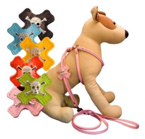 Skull & Crossbone Charm Step-In Dog Harness - Many Colors