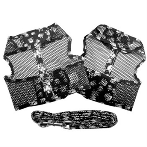 Skull Mesh Dog Harness & Lead - dogdes-skull-harnessS-DTD