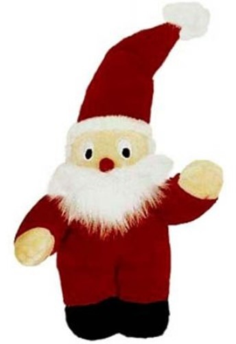 Small Squeaker Santa Dog Toy