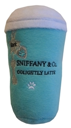 "Sniffany & Co. ""Golightly Latte"" Dog Toy  dog bowls,susan lanci, puppia,wooflink, luxury dog boutique,tonimari,pet clothes, dog clothes, puppy clothes, pet store, dog store, puppy boutique store, dog boutique, pet boutique, puppy boutique, Bloomingtails, dog, small dog clothes, large dog clothes, large dog costumes, small dog costumes, pet stuff, Halloween dog, puppy Halloween, pet Halloween, clothes, dog puppy Halloween, dog sale, pet sale, puppy sale, pet dog tank, pet tank, pet shirt, dog shirt, puppy shirt,puppy tank, I see spot, dog collars, dog leads, pet collar, pet lead,puppy collar, puppy lead, dog toys, pet toys, puppy toy, dog beds, pet beds, puppy bed,  beds,dog mat, pet mat, puppy mat, fab dog pet sweater, dog sweater, dog winter, pet winter,dog raincoat, pet raincoat"
