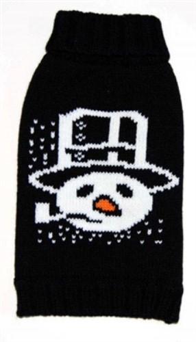 Snowman Pipe Dog Sweater - fab-snowpipe1-DTM