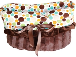 Snuggle Bug Reversible 3 in 1-Dog Bag, Bed & Car Seat-Fall Party Dots