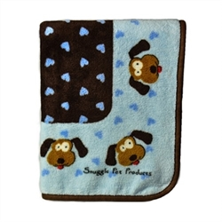 Snuggle Puppy Dog Blanket in Pink or Blue