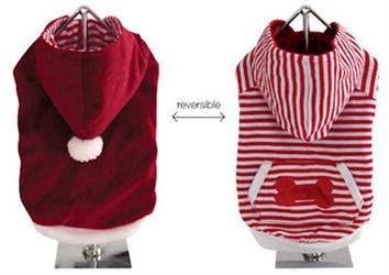 Solid & Striped Reversible Santa Suit