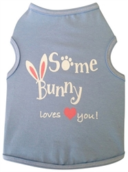 Some Bunny Loves You Dog Tank  dog bowls,susan lanci, puppia,wooflink, luxury dog boutique,tonimari,pet clothes, dog clothes, puppy clothes, pet store, dog store, puppy boutique store, dog boutique, pet boutique, puppy boutique, Bloomingtails, dog, small dog clothes, large dog clothes, large dog costumes, small dog costumes, pet stuff, Halloween dog, puppy Halloween, pet Halloween, clothes, dog puppy Halloween, dog sale, pet sale, puppy sale, pet dog tank, pet tank, pet shirt, dog shirt, puppy shirt,puppy tank, I see spot, dog collars, dog leads, pet collar, pet lead,puppy collar, puppy lead, dog toys, pet toys, puppy toy, dog beds, pet beds, puppy bed,  beds,dog mat, pet mat, puppy mat, fab dog pet sweater, dog sweater, dog winter, pet winter,dog raincoat, pet raincoat