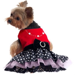 Sophia Velvet Party Dog Dress