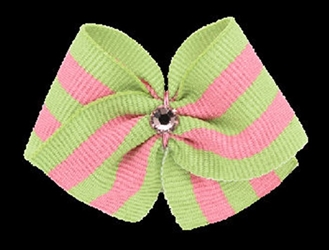 Sour Apple Designers Hair Bow Barrette