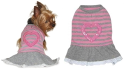 Sparkling Heart Dog Dress