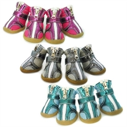 Sporty Metallic Dog Boots