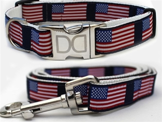 Stars N Stripes Dog Collar & Lead Collection