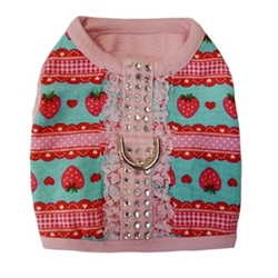 Stella Strawberry & Rhinestone Harness Vest