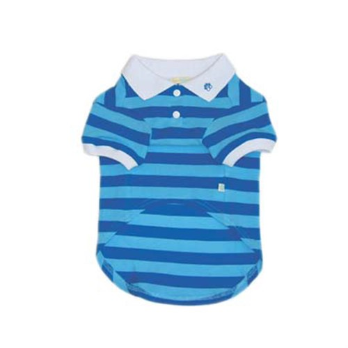 Striped Polo Shirt - Blue - dgo-blue-striped