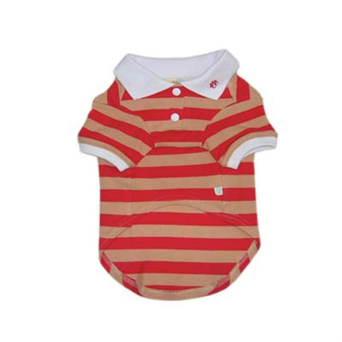 Striped Polo Shirt - Red - dgo-Red-striped