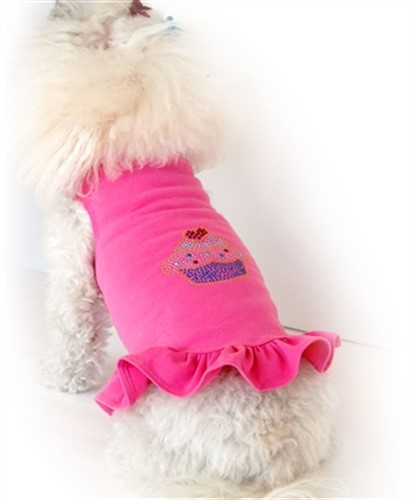 Studded Cupcake Flounce Dress  wooflink, susan lanci, dog clothes, small dog clothes, urban pup, pooch outfitters, dogo, hip doggie, doggie design, small dog dress, pet clotes, dog boutique. pet boutique, bloomingtails dog boutique, dog raincoat, dog rain coat, pet raincoat, dog shampoo, pet shampoo, dog bathrobe, pet bathrobe, dog carrier, small dog carrier, doggie couture, pet couture, dog football, dog toys, pet toys, dog clothes sale, pet clothes sale, shop local, pet store, dog store, dog chews, pet chews, worthy dog, dog bandana, pet bandana, dog halloween, pet halloween, dog holiday, pet holiday, dog teepee, custom dog clothes, pet pjs, dog pjs, pet pajamas, dog pajamas,dog sweater, pet sweater, dog hat, fabdog, fab dog, dog puffer coat, dog winter jacket, dog col
