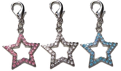 Swarovski Crystal Pave Star Charms