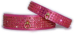 Swarovski Dog Collar - Metallic Pink Crystal wooflink, susan lanci, dog clothes, small dog clothes, urban pup, pooch outfitters, dogo, hip doggie, doggie design, small dog dress, pet clotes, dog boutique. pet boutique, bloomingtails dog boutique, dog raincoat, dog rain coat, pet raincoat, dog shampoo, pet shampoo, dog bathrobe, pet bathrobe, dog carrier, small dog carrier, doggie couture, pet couture, dog football, dog toys, pet toys, dog clothes sale, pet clothes sale, shop local, pet store, dog store, dog chews, pet chews, worthy dog, dog bandana, pet bandana, dog halloween, pet halloween, dog holiday, pet holiday, dog teepee, custom dog clothes, pet pjs, dog pjs, pet pajamas, dog pajamas,dog sweater, pet sweater, dog hat, fabdog, fab dog, dog puffer coat, dog winter jacket, dog col