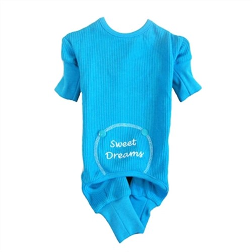 Sweet Dreams Embroidered Pajamas - Blue - dogdes-bluepj-pj
