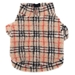 Tan Plaid Sherpa Pullover with Zipper     - wd-tan-fleece