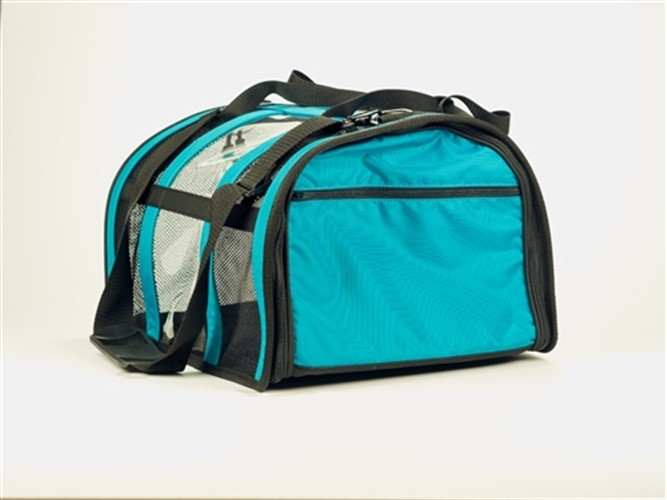 Teal Puppy Shell Carrier  - push-teal-carrier
