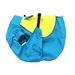 Teal and Yellow Dog Raincoat  - dogdes-teal-raincoat