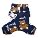 Teddy Bear Hooded Fleece  Dog Pajamas - klpo-bear-pjsX-MKD