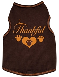 Thankful with 3 Paws Dog Tank - Brown   dog bowls,susan lanci, puppia,wooflink, luxury dog boutique,tonimari,pet clothes, dog clothes, puppy clothes, pet store, dog store, puppy boutique store, dog boutique, pet boutique, puppy boutique, Bloomingtails, dog, small dog clothes, large dog clothes, large dog costumes, small dog costumes, pet stuff, Halloween dog, puppy Halloween, pet Halloween, clothes, dog puppy Halloween, dog sale, pet sale, puppy sale, pet dog tank, pet tank, pet shirt, dog shirt, puppy shirt,puppy tank, I see spot, dog collars, dog leads, pet collar, pet lead,puppy collar, puppy lead, dog toys, pet toys, puppy toy, dog beds, pet beds, puppy bed,  beds,dog mat, pet mat, puppy mat, fab dog pet sweater, dog sweater, dog winter, pet winter,dog raincoat, pet raincoat
