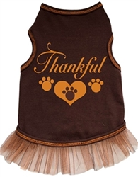 Thankful with 3 Paws Dress - Brown  dog bowls,susan lanci, puppia,wooflink, luxury dog boutique,tonimari,pet clothes, dog clothes, puppy clothes, pet store, dog store, puppy boutique store, dog boutique, pet boutique, puppy boutique, Bloomingtails, dog, small dog clothes, large dog clothes, large dog costumes, small dog costumes, pet stuff, Halloween dog, puppy Halloween, pet Halloween, clothes, dog puppy Halloween, dog sale, pet sale, puppy sale, pet dog tank, pet tank, pet shirt, dog shirt, puppy shirt,puppy tank, I see spot, dog collars, dog leads, pet collar, pet lead,puppy collar, puppy lead, dog toys, pet toys, puppy toy, dog beds, pet beds, puppy bed,  beds,dog mat, pet mat, puppy mat, fab dog pet sweater, dog sweater, dog winter, pet winter,dog raincoat, pet raincoat