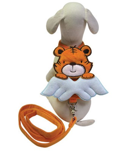 Tiger Angel Wings Harness & Leash - klpo-tiger-harness