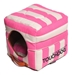Touchdog Polo Striped Convertible Bed in 3 Colors - pl-square