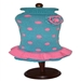 Turquoise/Pink Polka Dot Party Dress - daldog-polkadot-dress
