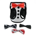 Tuxedo American River Harness w/4 Interchanging Bows - dogdes-tuxedo-harness