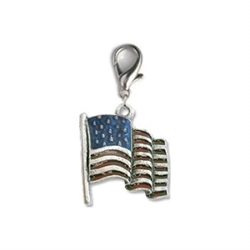 USA Flag Dog Charm