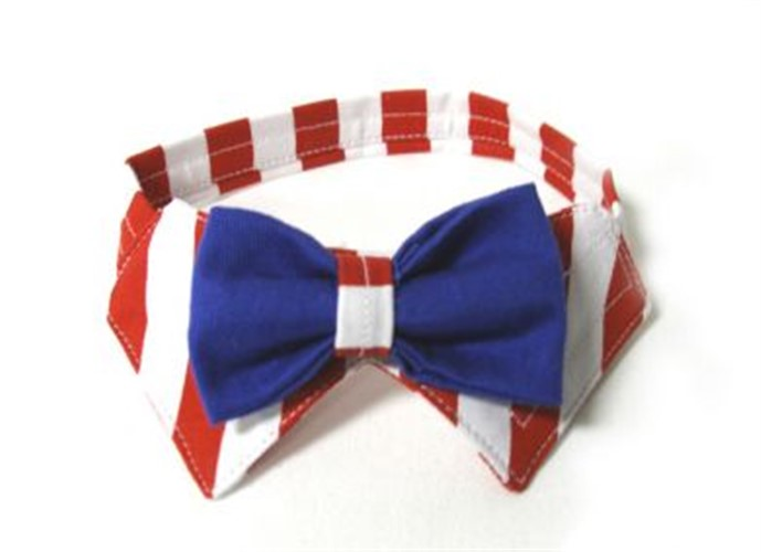 Uncle Sam  Dog Collar & Bow Tie Set wooflink, susan lanci, dog clothes, small dog clothes, urban pup, pooch outfitters, dogo, hip doggie, doggie design, small dog dress, pet clotes, dog boutique. pet boutique, bloomingtails dog boutique, dog raincoat, dog rain coat, pet raincoat, dog shampoo, pet shampoo, dog bathrobe, pet bathrobe, dog carrier, small dog carrier, doggie couture, pet couture, dog football, dog toys, pet toys, dog clothes sale, pet clothes sale, shop local, pet store, dog store, dog chews, pet chews, worthy dog, dog bandana, pet bandana, dog halloween, pet halloween, dog holiday, pet holiday, dog teepee, custom dog clothes, pet pjs, dog pjs, pet pajamas, dog pajamas,dog sweater, pet sweater, dog hat, fabdog, fab dog, dog puffer coat, dog winter jacket, dog col
