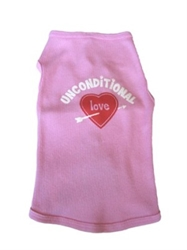 Unconditional Love Tank Shirt - Pink or Black