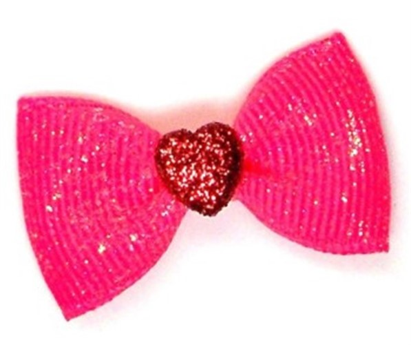 Valentine Sugar Dog Bows in Pink or Blue - cc-sugar