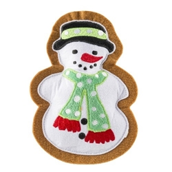 Wagnolia Bakery Snowman Holiday Cookie Toy   Roxy & Lulu, wooflink, susan lanci, dog clothes, small dog clothes, urban pup, pooch outfitters, dogo, hip doggie, doggie design, small dog dress, pet clotes, dog boutique. pet boutique, bloomingtails dog boutique, dog raincoat, dog rain coat, pet raincoat, dog shampoo, pet shampoo, dog bathrobe, pet bathrobe, dog carrier, small dog carrier, doggie couture, pet couture, dog football, dog toys, pet toys, dog clothes sale, pet clothes sale, shop local, pet store, dog store, dog chews, pet chews, worthy dog, dog bandana, pet bandana, dog halloween, pet halloween, dog holiday, pet holiday, dog teepee, custom dog clothes, pet pjs, dog pjs, pet pajamas, dog pajamas,dog sweater, pet sweater, dog hat, fabdog, fab dog, dog puffer coat, dog winter ja
