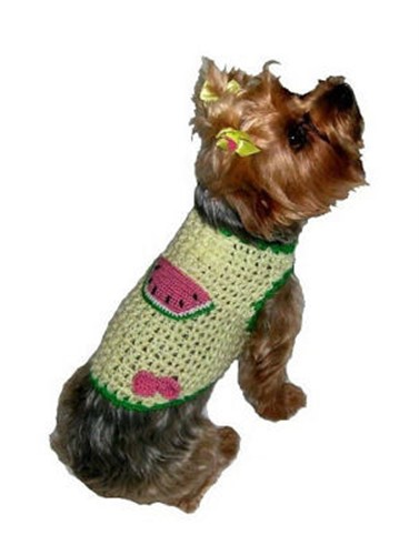 Watermelon Punch Dog Sweater Vest - dal-watermelon1-HWR