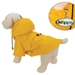Waterproof Yellow Zippered Dog Raincoat - klip-zipraincoatS-THS