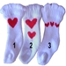 White Heart Dog Socks - pampet-heart-socks