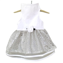 White Tulle & Sequin Dog Dress     beds, puppy bed,  beds,dog mat, pet mat, puppy mat, fab dog pet sweater, dog swepet clothes, dog clothes, puppy clothes, pet store, dog store, puppy boutique store, dog boutique, pet boutique, puppy boutique, Bloomingtails, dog, small dog clothes, large dog clothes, large dog costumes, small dog costumes, pet stuff, Halloween dog, puppy Halloween, pet Halloween, clothes, dog puppy Halloween, dog sale, pet sale, puppy sale, pet dog tank, pet tank, pet shirt, dog shirt, puppy shirt,puppy tank, I see spot, dog collars, dog leads, pet collar, pet lead,puppy collar, puppy lead, dog toys, pet toys, puppy toy, dog beds, pet beds, puppy bed,  beds,dog mat, pet mat, puppy mat, fab dog pet sweater, dog sweater, dog winter, pet winter,dog raincoat, pe