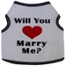 Will You Marry Me?  Dog Tank Shirt  - iss-marry-tankX-QEX