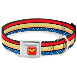 Wonder Woman Seat Belt Buckle Dog Collar & Lead